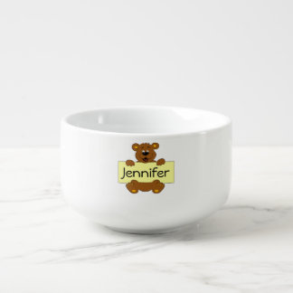 Glücklicher Bär mit kundengerechten Große Suppentasse