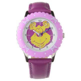 Glücklicher Bär Uhr