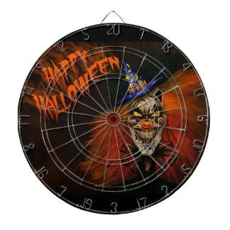 Glücklicher beängstigender Clown Halloweens Dartscheibe