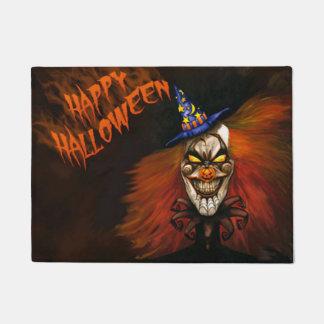 Glücklicher beängstigender Clown Halloweens Türmatte