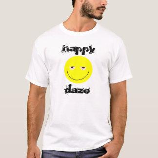 Glücklicher Benommenheits-smiley-T - Shirt