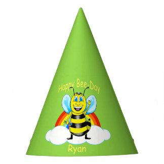 Glücklicher Bienen-Geburtstags-Hut (kundengerecht) Partyhütchen
