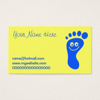 Glücklicher blauer Fuß Visitenkarte