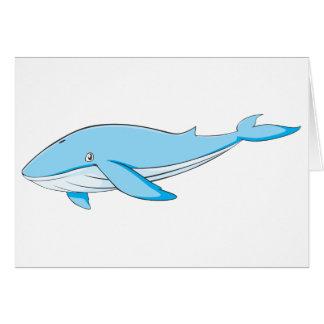 Glücklicher Blauwal Grußkarte