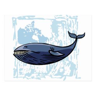 Glücklicher Blauwal Postkarte