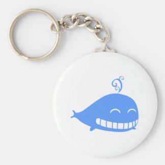 Glücklicher Blauwal Standard Runder Schlüsselanhänger