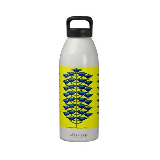 Glücklicher Blumen-Baum Wasserflasche