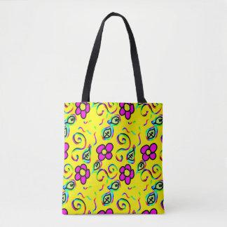 glücklicher Blumenentwurf Tasche