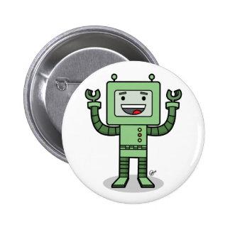 Glücklicher Bot - Knopf Anstecknadelbutton