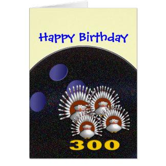 Glücklicher Bowlings-Geburtstag Karte