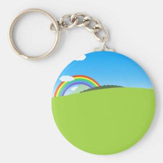 Glücklicher bunter Planet 03 Schlüsselanhänger