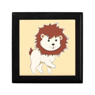 Glücklicher Cartoon-Baby-Löwe Erinnerungskiste