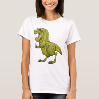 Glücklicher Cartoon-Dinosaurier, der die Daumen T-Shirt