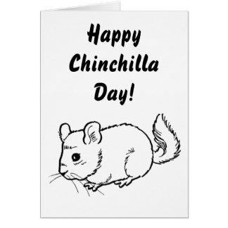 Glücklicher Chinchilla-Tag! Karte