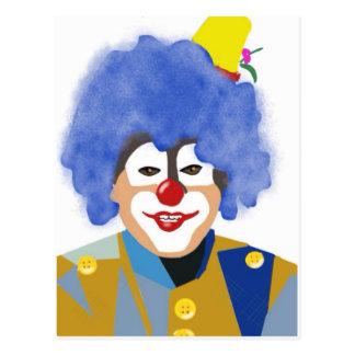 Glücklicher Clown Postkarte