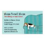 Glücklicher Couch-Hund Visitenkartenvorlagen