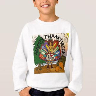 Glücklicher Dank-veganer Erntedank die Türkei Sweatshirt