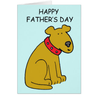 Glücklicher der Vatertags-Hund Karte