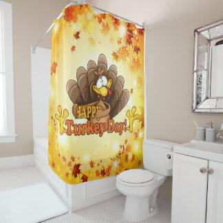 Glücklicher die Türkei-Tag Duschvorhang