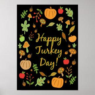 Glücklicher die Türkei-Tag! Poster