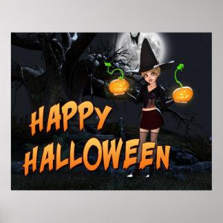 Glücklicher Druck Halloweens Skye Poster