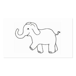 Glücklicher Elefant - niedliche wunderliche Kunst Visitenkartenvorlagen