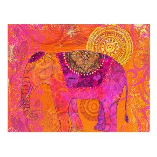 Glücklicher Elefant Postkarte