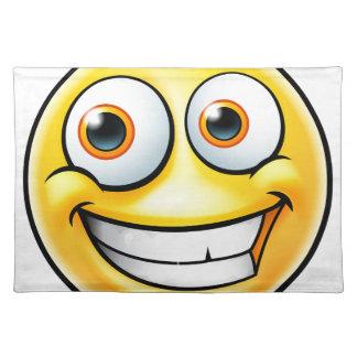 Glücklicher Emoji Emoticon Stofftischset