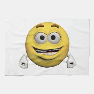 Glücklicher Emoticon Küchentuch
