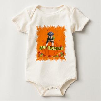 GLÜCKLICHER ERNTEDANK BABY STRAMPLER