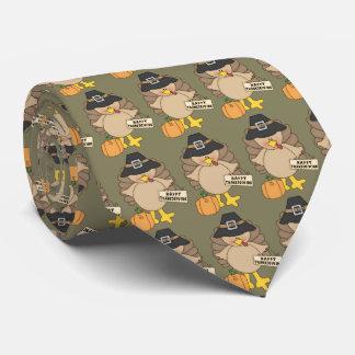 Glücklicher Erntedank die Türkei deckte Krawatte