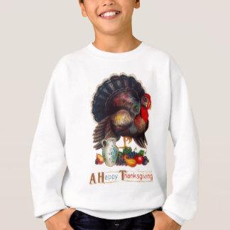 Glücklicher Erntedank die Vintage Türkei Sweatshirt