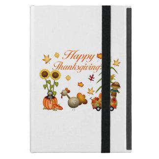 Glücklicher Erntedank-Herbst verlässt Kürbis u. iPad Mini Etui