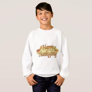 Glücklicher Erntedank-Herbstlaub Sweatshirt