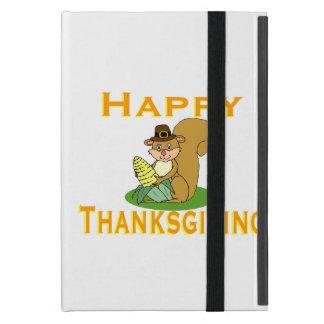 Glücklicher ErntedankChipmunk mit Mais iPad Mini Hülle