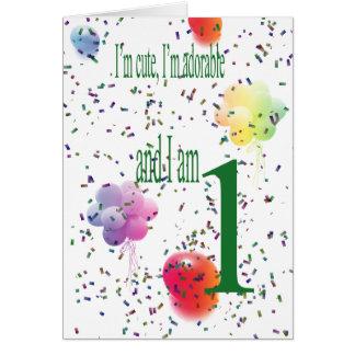 Glücklicher erster Geburtstag Grußkarte