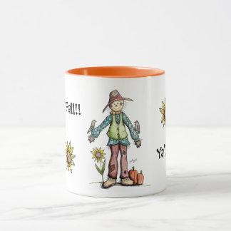 Glücklicher Fall Sie!  Vogelscheuche-Tasse Tasse