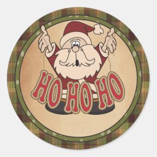 Glücklicher Feiertag Ho Ho Ho Sankt Runder Aufkleber