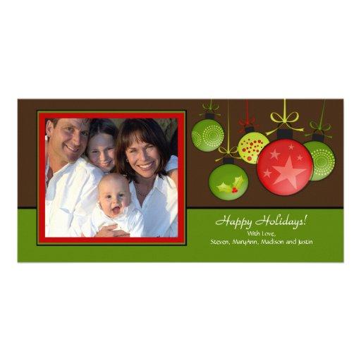 Glücklicher Feiertags-einzigartige WeihnachtenOram Photo Karten Vorlage