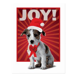 Glücklicher Feiertags-Hund - Jack Russell Sankt Postkarte