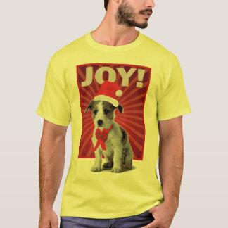 Glücklicher Feiertags-Hund - Jack Russell T-Shirt