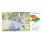 Glücklicher Feiertags-Italiener beleuchtet Foto-Ka Personalisierte Photo Karte