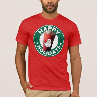 Glücklicher Feiertags-Rot-T - Shirt
