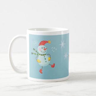 Glücklicher Feiertags-Schneemann Kaffeetasse