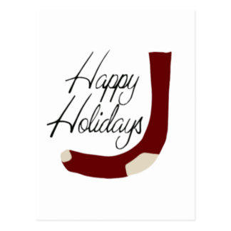 Glücklicher Feiertags-Strumpf Postkarte