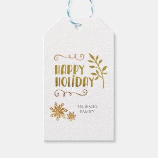 Glücklicher Feiertags-Weihnachtsgeschenk-Umbau Geschenkanhänger