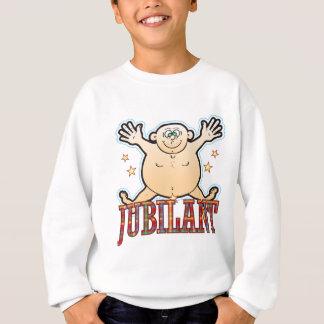 Glücklicher fetter Mann Sweatshirt