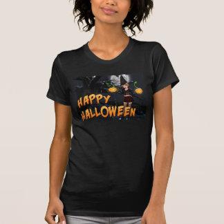 Glücklicher Frauen-T - Shirt Halloweens Skye