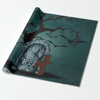 Glücklicher frequentierender toter Baum ernsten Einpackpapier