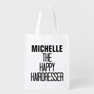 Glücklicher Friseur-Reim Einkaufstasche